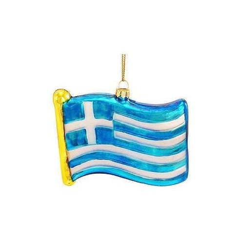 Greek Flag Ornament