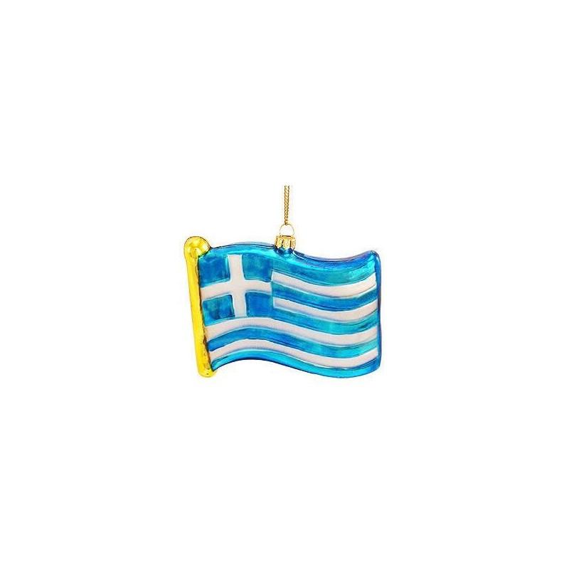Greek Flag Ornament