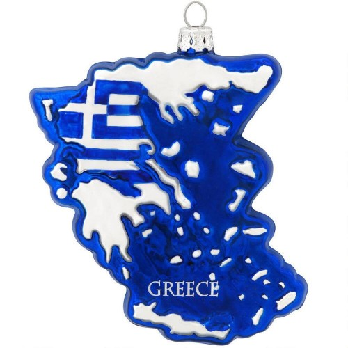 Greece Glass Ornament