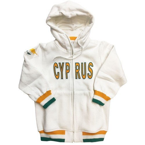 Cyprus White Hooded Kids Jacket