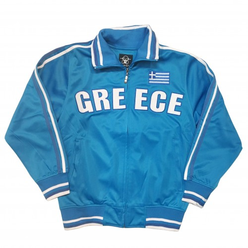 Greece Zip Up Track Jacket