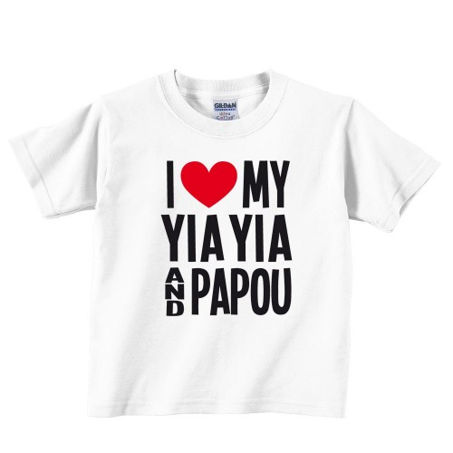 I Love My Yia Yia And Papou Toddler Tee